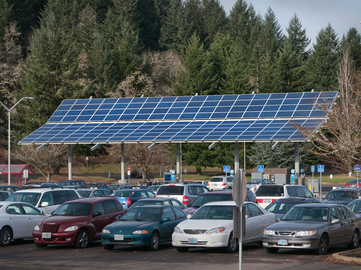 LCC Solar Powered Vehicle Charging Station