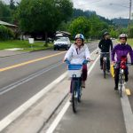 Amazon Active Transportation Corridor protected two-way cycle track