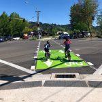 Amazon Active Transportation Corridor diagonal bicycle crossing